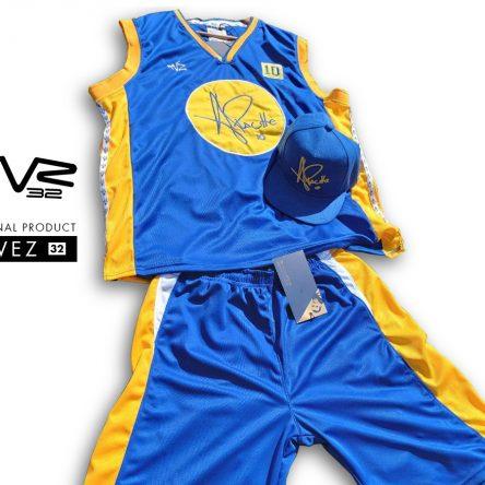 Conjunto TVZ 32 Musculosa y Bermuda Basket Azul (no incluye gorra)