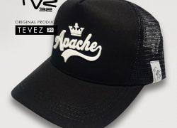 Gorra TVZ 32 Negra Estampada Relieve Apache